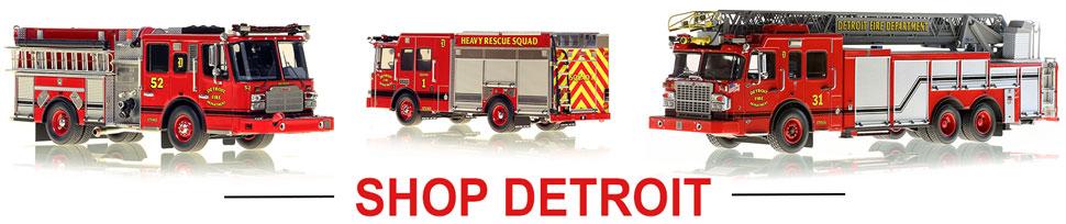 Shop Detroit Fire Department scale model fire trucks