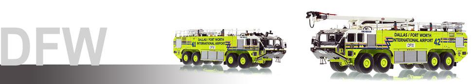 Dallas/Fort Worth Oshkosh 8x8 Striker models in 1:50 scale