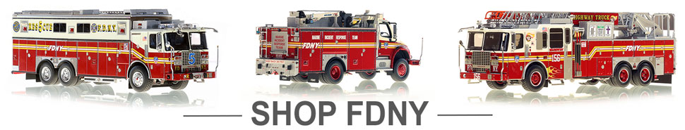 Shop FDNY scale model fire trucks