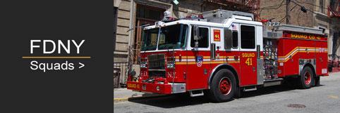 Shop FDNY Squad scale model fire trucks