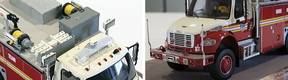 Closeup images 9-10 of FDNY Marine Incident Response Team scale model