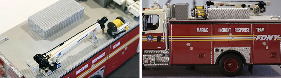 Closeup images 7-8 of FDNY Marine Incident Response Team scale model