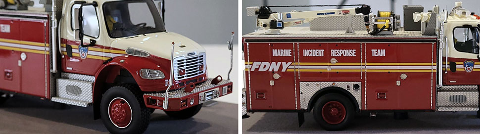 Closeup images 1-2 of FDNY Marine Incident Response Team scale model