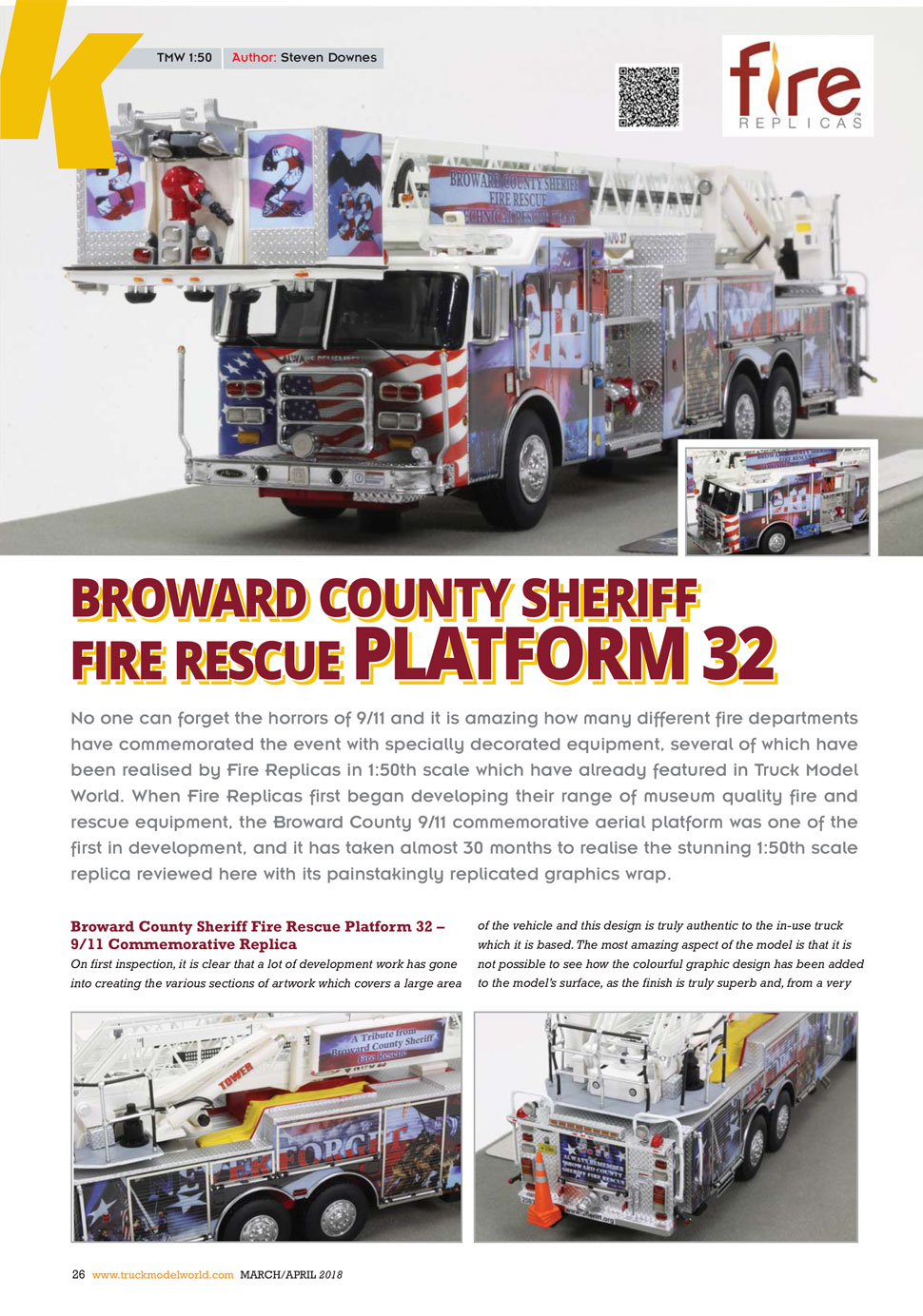 Broward County P32 review as seen in Truck Model World, U.K.