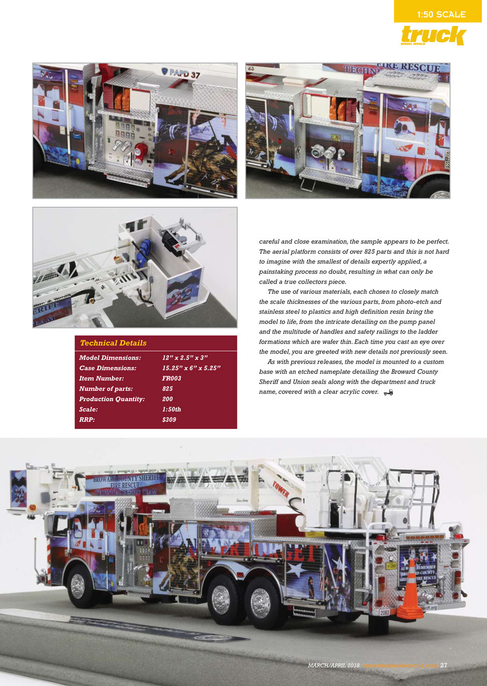 Broward County P32 review as seen in Truck Model World, U.K. - page 2