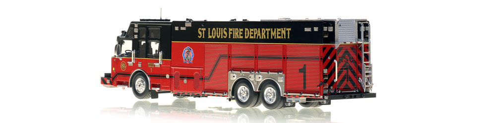 St. Louis Rescue 1 is built by SVI Trucks on a Spartan chassis