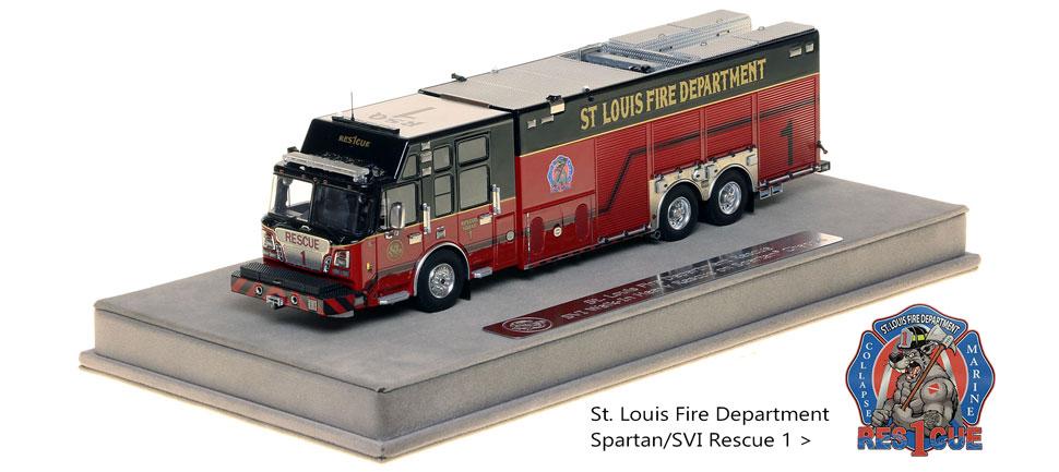 St. Louis Spartan/SVI Rescue 1 scale model