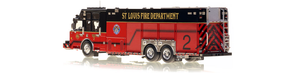 St. Louis Rescue 2 is built by SVI Trucks on a Spartan chassis