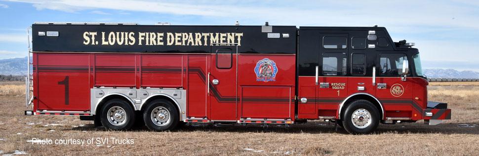 St. Louis Rescue 1 courtesy of SVI Trucks