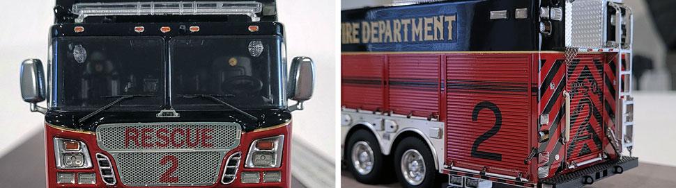 Closeup pics 9-10 of St. Louis Fire Department Rescue 2 scale model