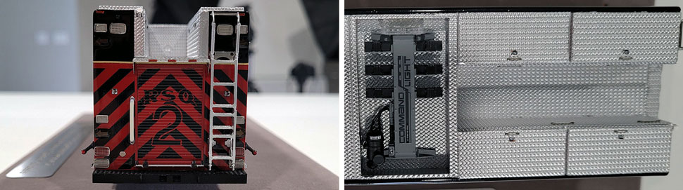 Closeup pics 3-4 of St. Louis Fire Department Rescue 2 scale model