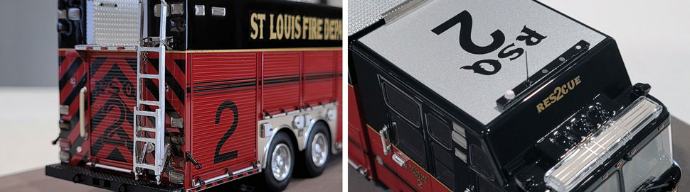 Closeup pics 11-12 of St. Louis Fire Department Rescue 2 scale model