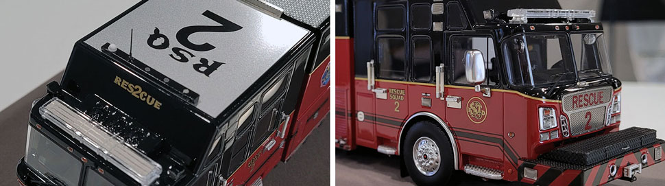 Closeup pics 13-14 of St. Louis Fire Department Rescue 2 scale model