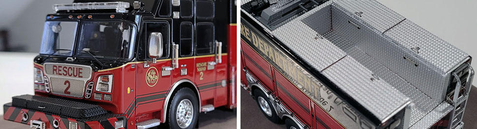Closeup pics 7-8 of St. Louis Fire Department Rescue 2 scale model