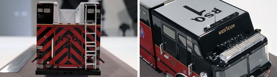 Close up images 5-6 of St. Louis Fire Department Rescue 1 scale model