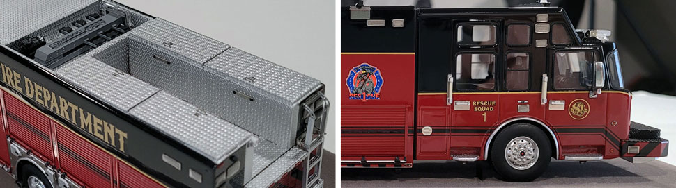 Close up images 9-10 of St. Louis Fire Department Rescue 1 scale model
