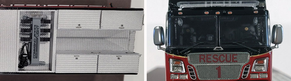 Close up images 11-12 of St. Louis Fire Department Rescue 1 scale model