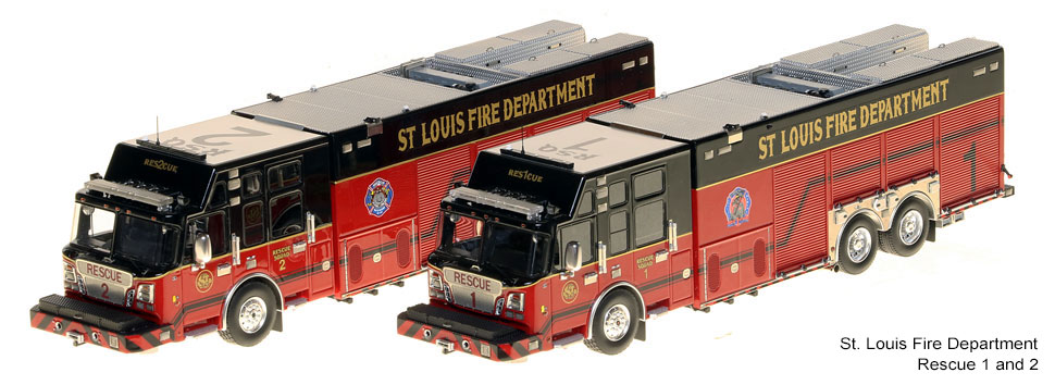 St. Louis Rescue 1 and Rescue 2 scale models