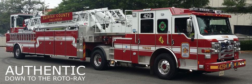 Fairfax County Tyson's Truck 429 Scale Model