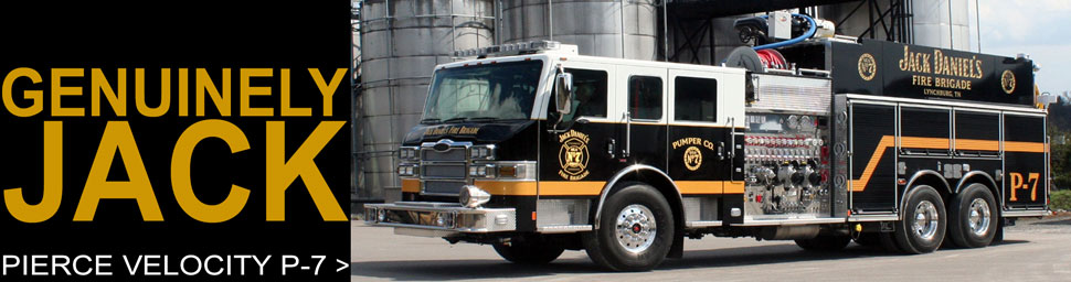 See the Jack Daniel's Fire Brigade Pierce Velocity P-7 Pumper scale model!