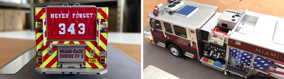 Closeup pictures 3-4 of Miami-Dade 9/11 Tribute Engine 3 scale model