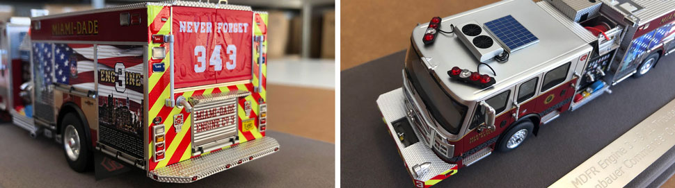 Closeup pictures 9-10 of Miami-Dade 9/11 Tribute Engine 3 scale model