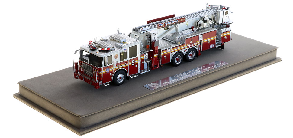 Tower Ladder 9 includes a fully custom display case.
