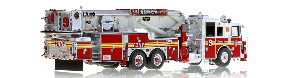 Tower Ladder 9 is hand-crafted using over 500 parts.