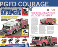 PGFD Courage E805 featured in Truck Model World