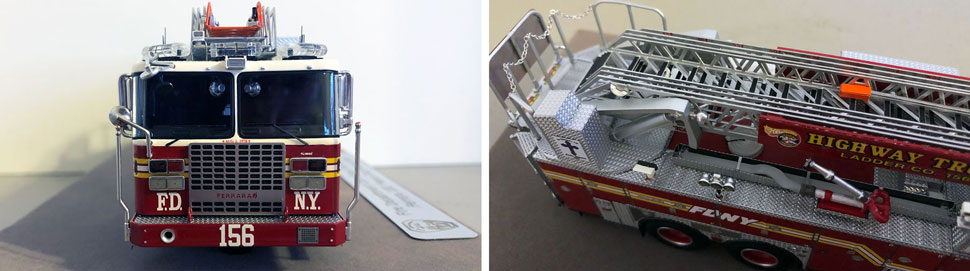 Closeup pictures 7-8 of the FDNY Ladder 156 scale model