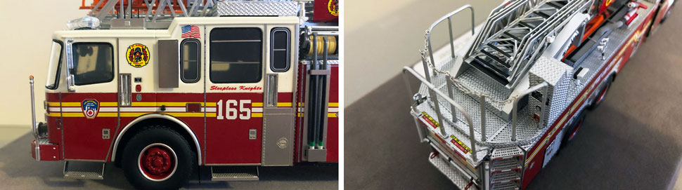 Closeup pictures 3-4 of the FDNY Ladder 165 scale model