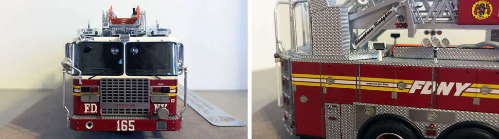 Closeup pictures 9-10 of the FDNY Ladder 165 scale model