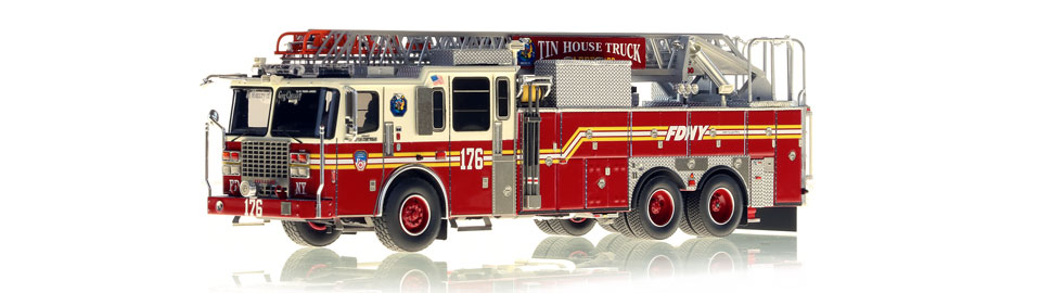 The first museum grade FDNY Ladder 176 scale model