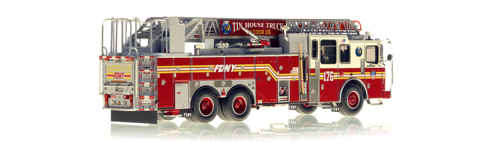 Authentic to FDNY Ladder 176 in every detail.
