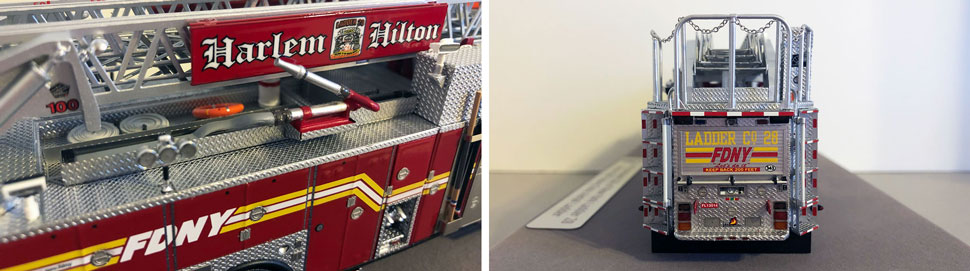Closeup pictures 9-10 of the FDNY Ladder 28 scale model