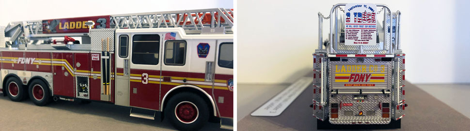 Closeup pictures 5-6 of the FDNY Ladder 3 scale model