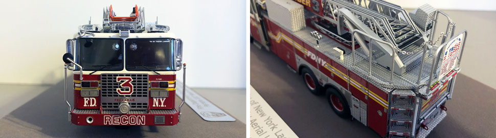 Closeup pictures 9-10 of the FDNY Ladder 3 scale model