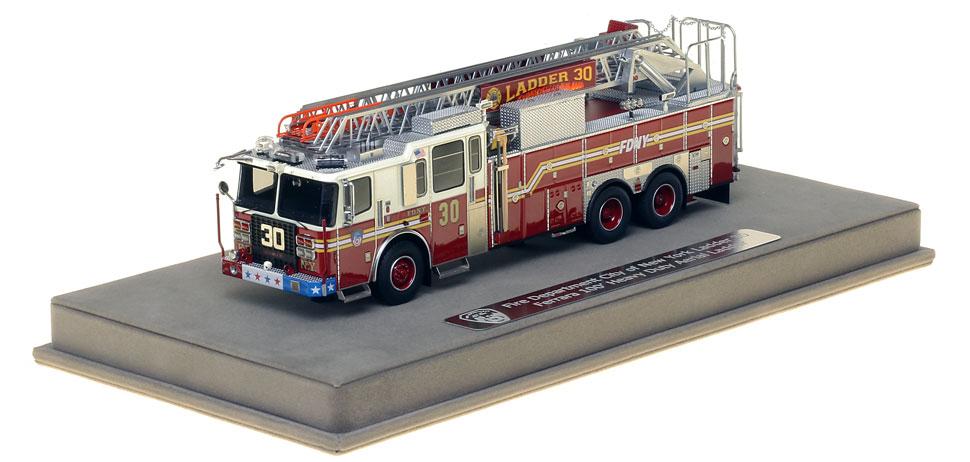 FDNY Ladder 30 includes a fully custom display case