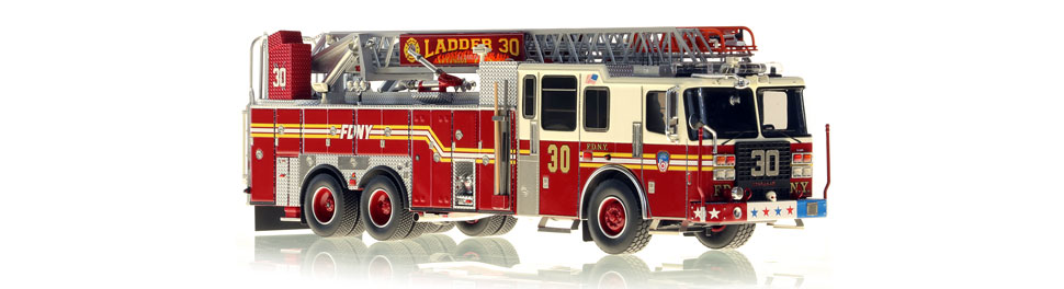 The first museum grade FDNY Ladder 30 scale model