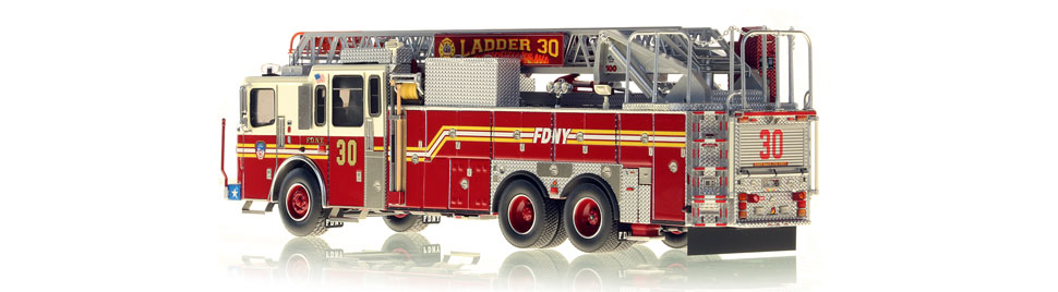 Authentic to FDNY Ladder 30 in every detail.