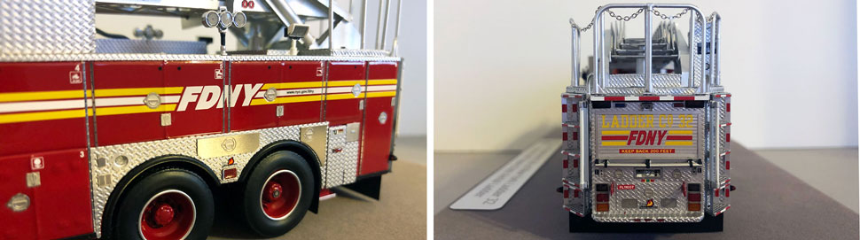 Closeup pictures 5-6 of the FDNY Ladder 32 scale model