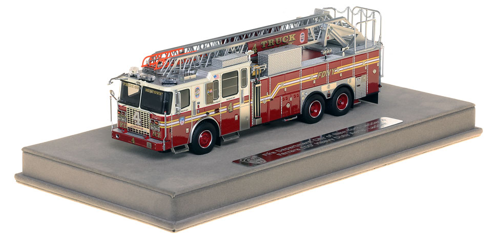 FDNY Ladder 4 includes a fully custom display case