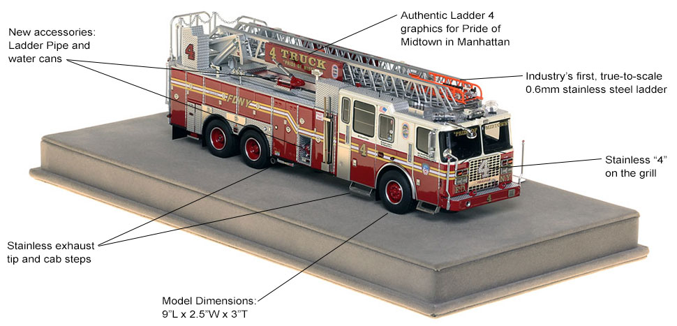 Specs and features of FDNY Ladder 4
