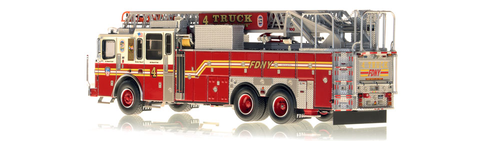 Authentic to FDNY Ladder 4 in every detail.