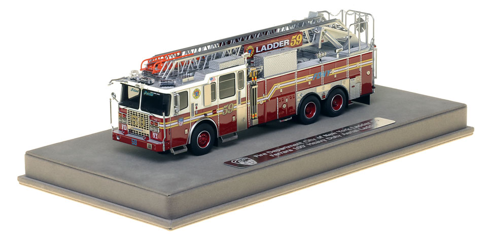 FDNY Ladder 59 includes a fully custom display case