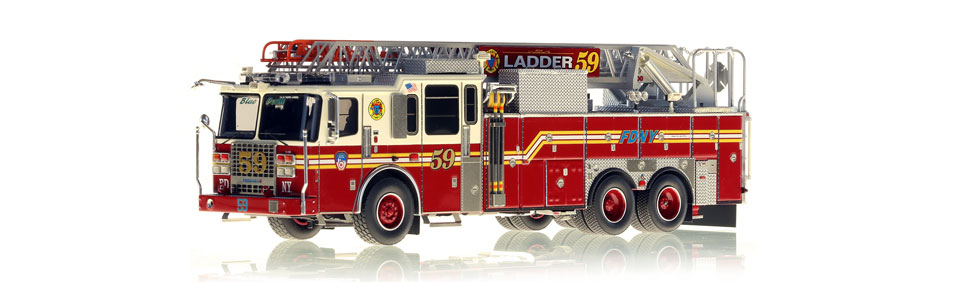 The first museum grade FDNY Ladder 59 scale model