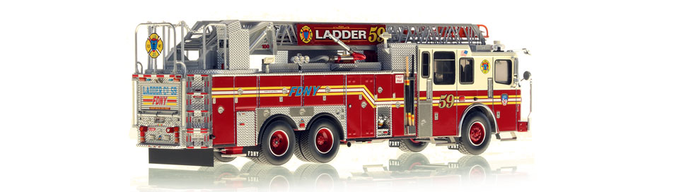 Authentic to FDNY Ladder 59 in every detail.