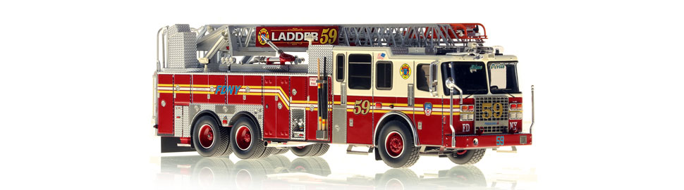 Ladder 59 features a precise, 0.6mm stainless steel ladder