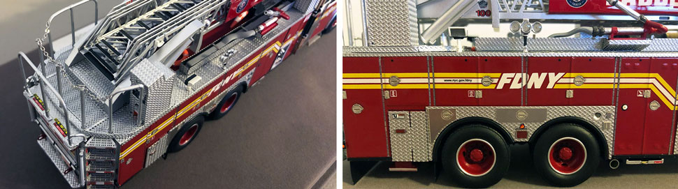 Closeup pictures 5-6 of the FDNY Ladder 8 scale model