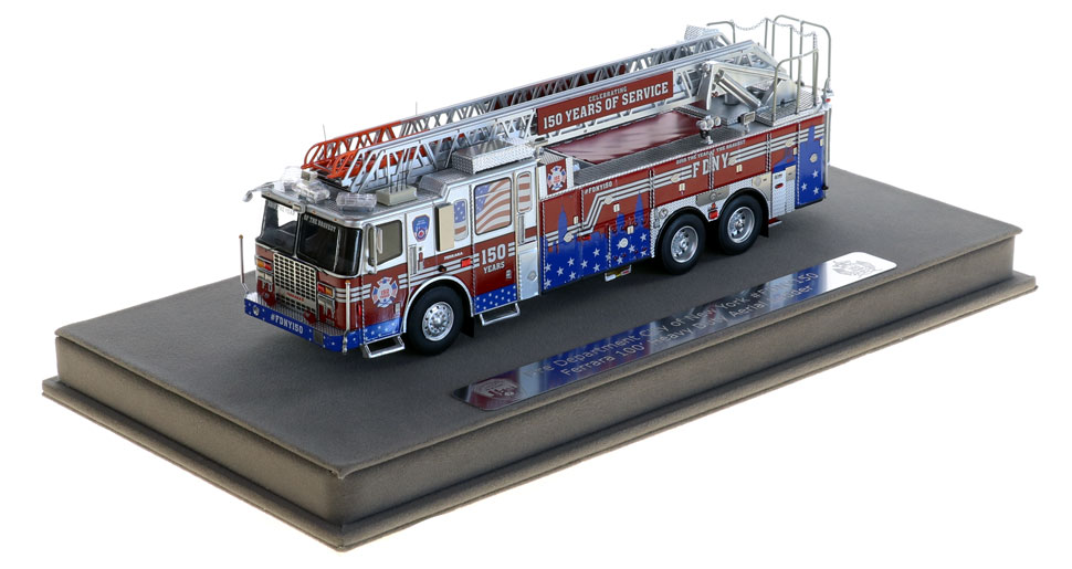 #FDNY150 scale model includes a fully custom display case.